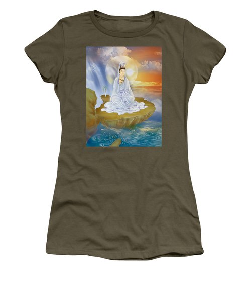 Kwan Yin - Goddess Of Compassion Women's T-Shirt (Junior Cut) by Lanjee Chee