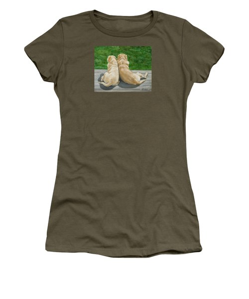Labrador Lazy Afternoon Women's T-Shirt (Athletic Fit)