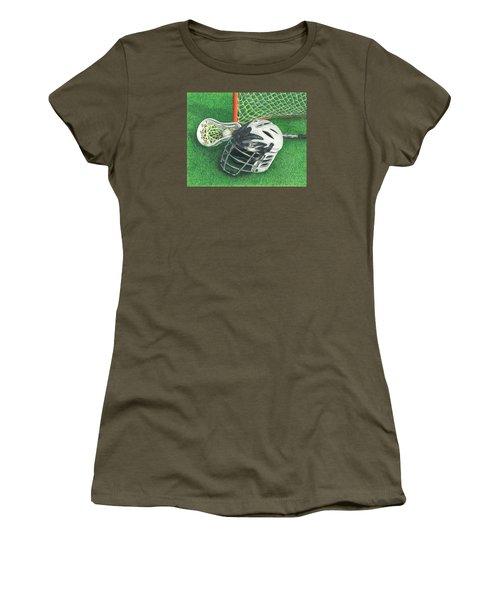 Lacrosse Women's T-Shirt (Junior Cut) by Troy Levesque