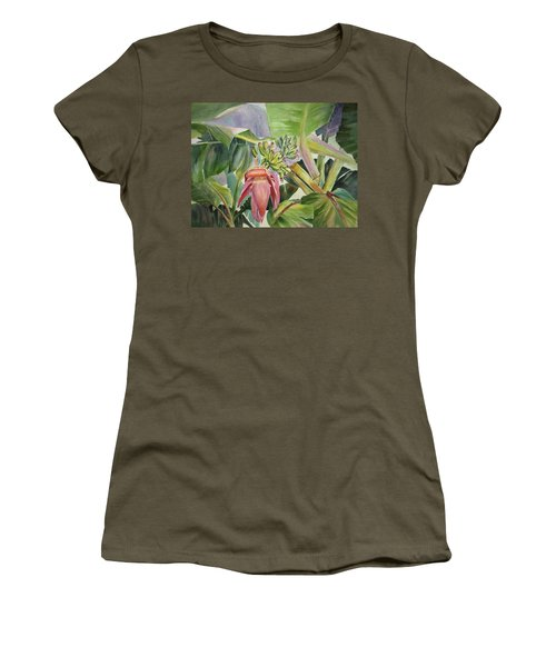 Lady Fingers - Banana Tree Women's T-Shirt (Athletic Fit)