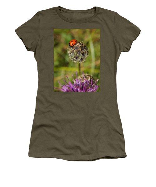 Women's T-Shirt (Junior Cut) featuring the digital art Ladybird by Ron Harpham