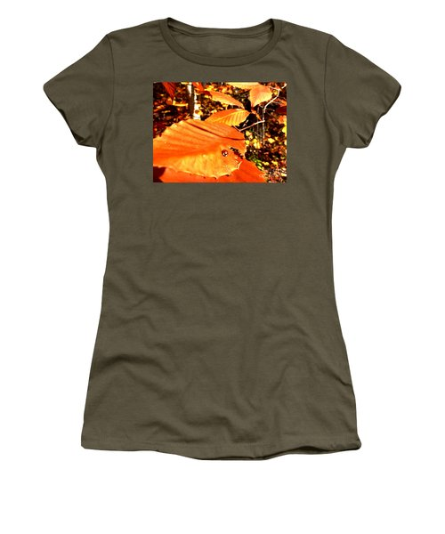 Ladybug At Fall Women's T-Shirt