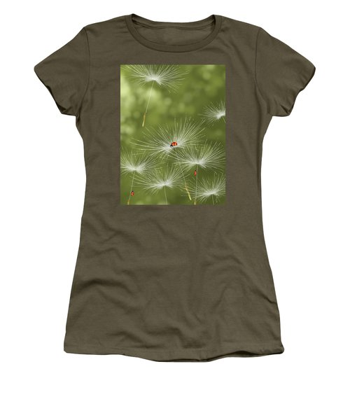 Ladybug Women's T-Shirt (Junior Cut) by Veronica Minozzi