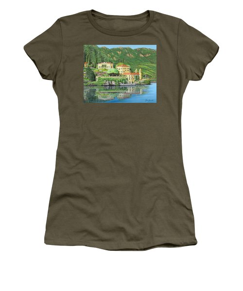 Lake Como Morning Women's T-Shirt (Athletic Fit)
