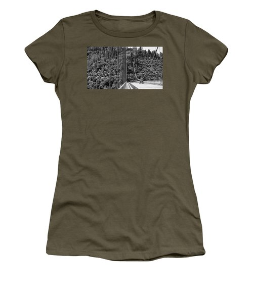 Lake Oroville Bridge Black And White Women's T-Shirt