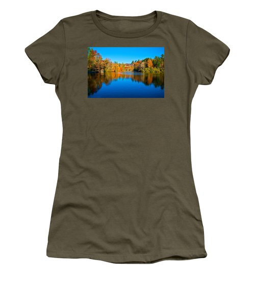 Women's T-Shirt (Junior Cut) featuring the photograph Lake Reflections by Alex Grichenko