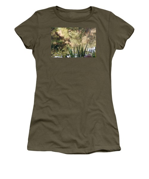Women's T-Shirt (Junior Cut) featuring the photograph Lake Reflections by Kate Brown
