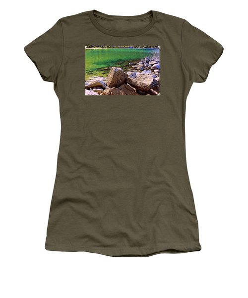 Lake Tahoe Green Women's T-Shirt (Athletic Fit)