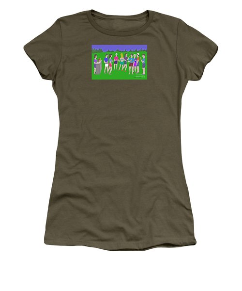 Lawn Party  Women's T-Shirt (Athletic Fit)