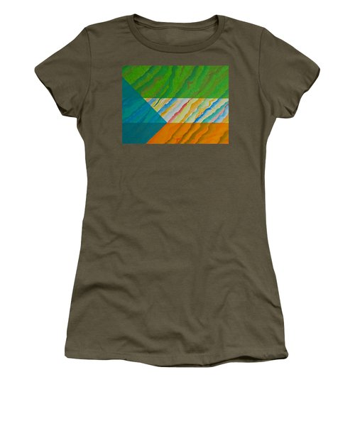 Women's T-Shirt (Junior Cut) featuring the mixed media Layover by Michele Myers