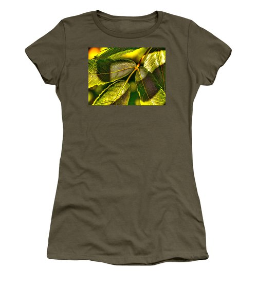 Leaf Texture Women's T-Shirt (Athletic Fit)