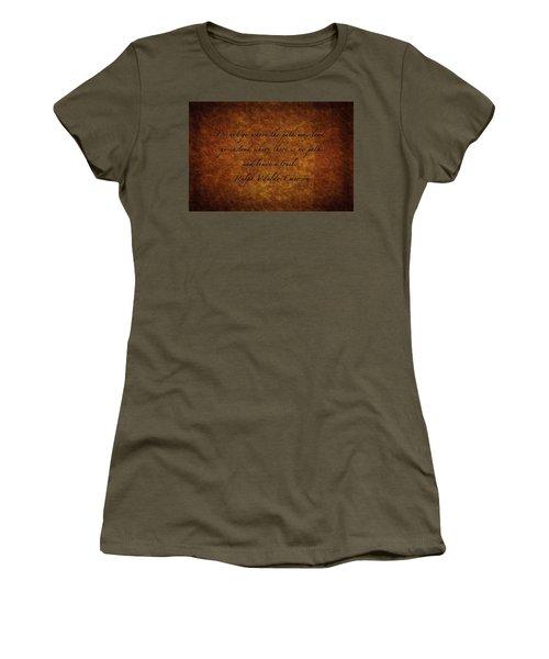 Leave A Trail Women's T-Shirt (Junior Cut) by Sennie Pierson