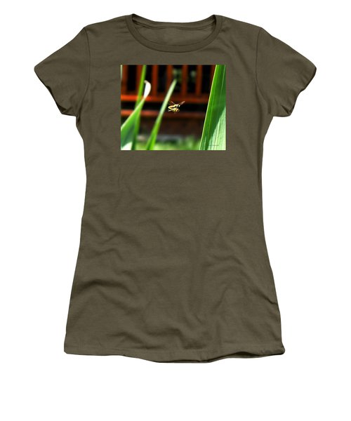Women's T-Shirt (Junior Cut) featuring the photograph Leave No Bee Behind by Thomas Woolworth