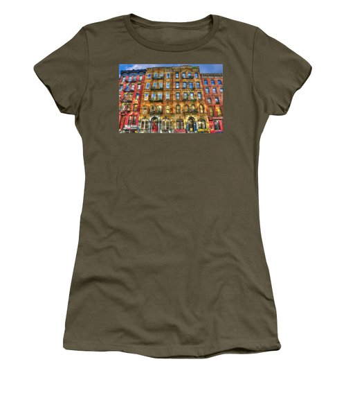 Led Zeppelin Physical Graffiti Building In Color Women's T-Shirt