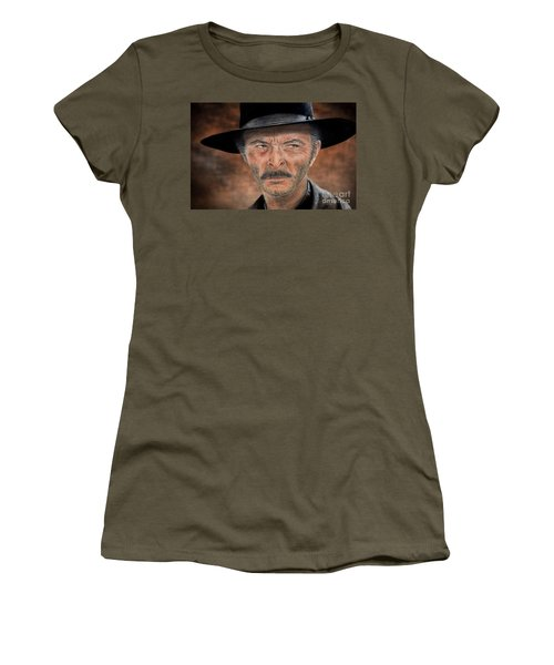 Lee Van Cleef As Angel Eyes In The Good The Bad And The Ugly Version II Women's T-Shirt (Junior Cut) by Jim Fitzpatrick