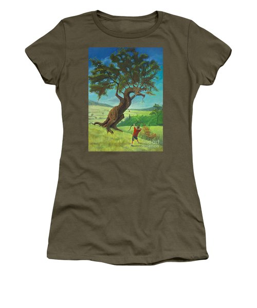 Women's T-Shirt (Junior Cut) featuring the painting Legendary Archer by Rob Corsetti