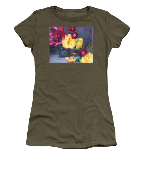 Lemon And Magenta - Flowers And Radish Women's T-Shirt