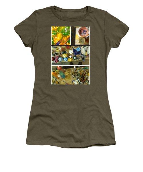 Women's T-Shirt (Junior Cut) featuring the photograph Les Couleurs by Sir Josef - Social Critic - ART