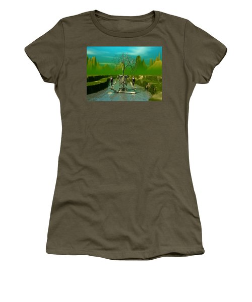Women's T-Shirt (Junior Cut) featuring the digital art Life Death And The River Of Time by John Alexander