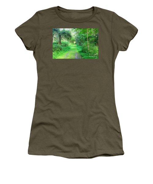 Women's T-Shirt (Junior Cut) featuring the photograph Light At The End Of The Tunnel by Becky Lupe