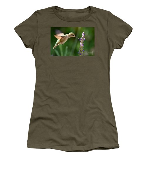 Light Filters Behind The Hummer Women's T-Shirt (Athletic Fit)