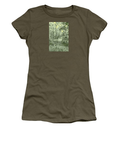 Light Forest Scene Women's T-Shirt (Athletic Fit)
