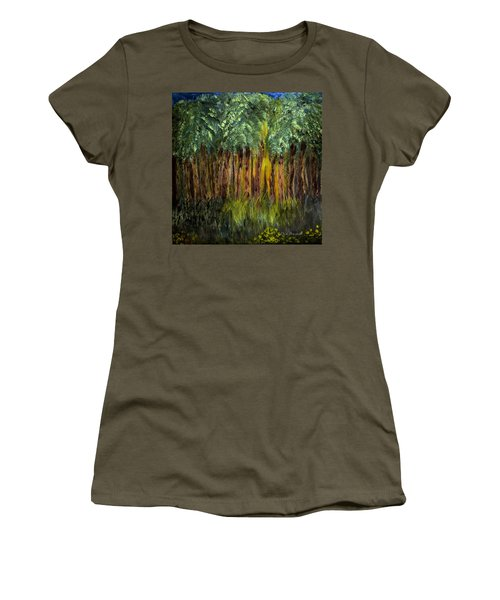 Light In The Forest Women's T-Shirt (Junior Cut) by Dick Bourgault