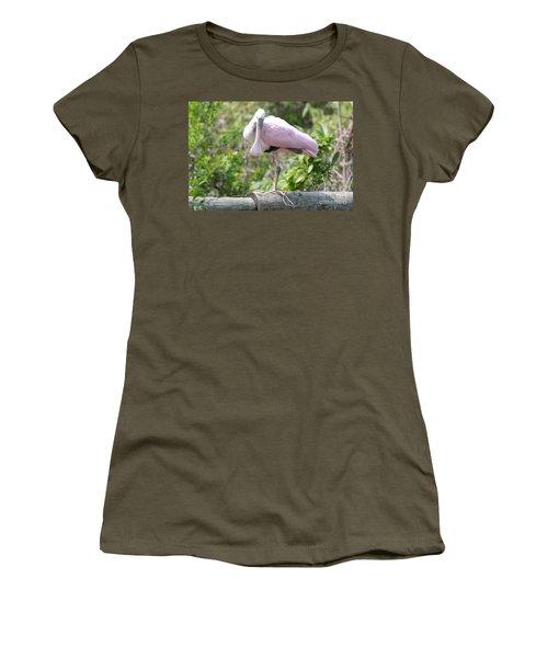 Light Pink Roseate Spoonbill Women's T-Shirt (Junior Cut)