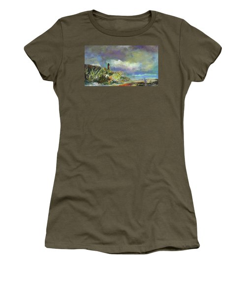 Lighthouse And Fisherman Women's T-Shirt