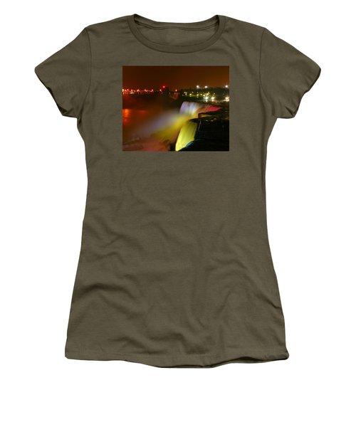 Lights On Niagara Falls Women's T-Shirt (Athletic Fit)
