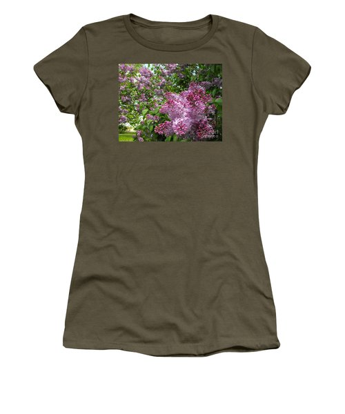 Lilacs Women's T-Shirt (Athletic Fit)