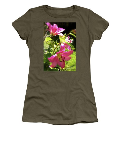 Lilies In The Garden Women's T-Shirt (Athletic Fit)