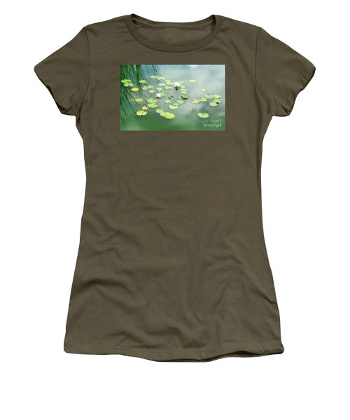 Women's T-Shirt (Junior Cut) featuring the photograph Lilly Pads by Erika Weber