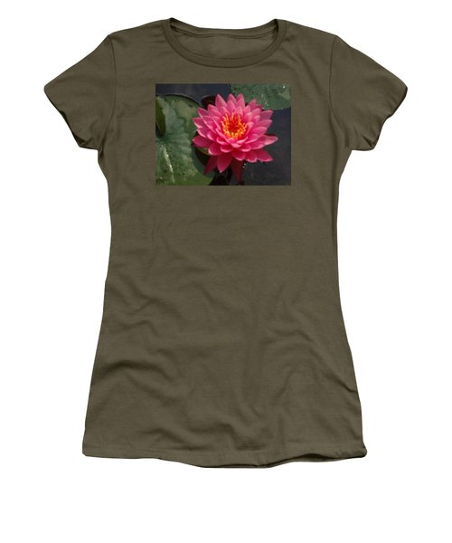 Women's T-Shirt (Junior Cut) featuring the photograph Lily Flower In Bloom by Michael Porchik