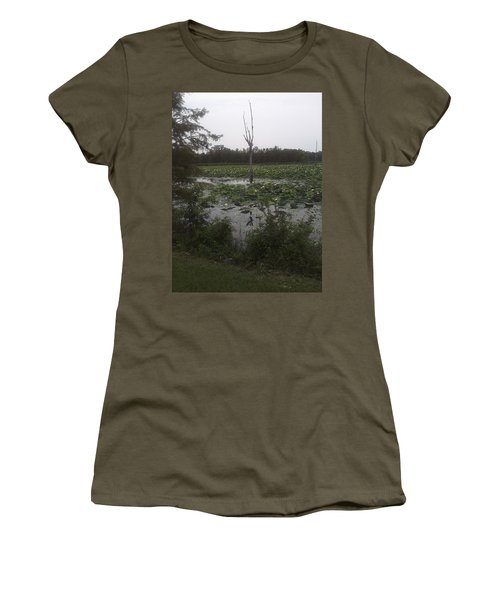 Women's T-Shirt (Junior Cut) featuring the photograph Lily Pads by Fortunate Findings Shirley Dickerson
