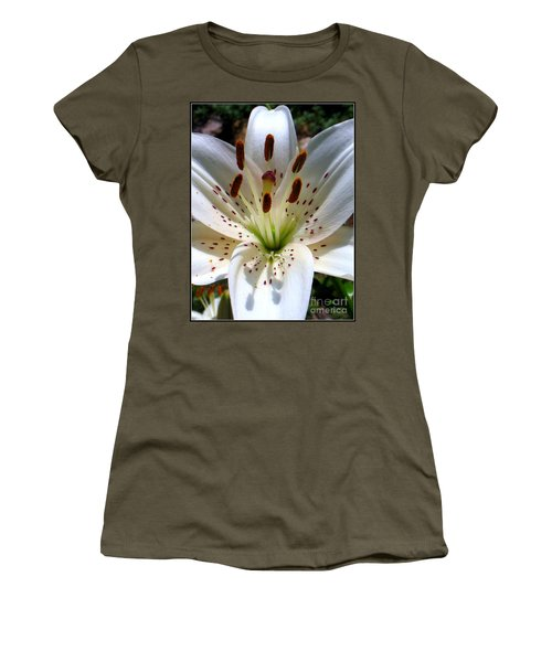Women's T-Shirt (Junior Cut) featuring the photograph Lily by Patti Whitten