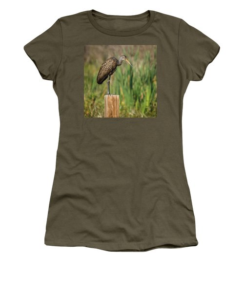 Limpkin Women's T-Shirt (Athletic Fit)