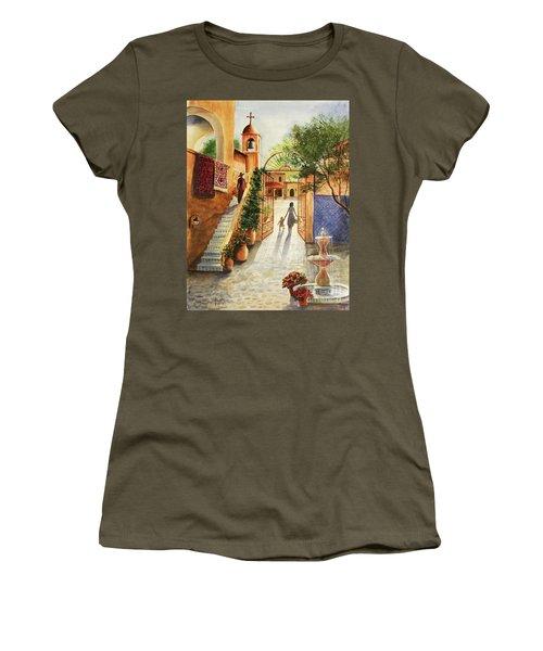 Lingering Spirit-sedona Women's T-Shirt (Junior Cut) by Marilyn Smith