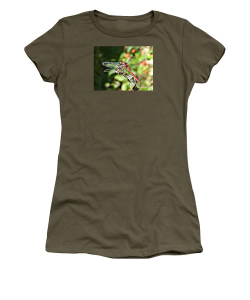 Women's T-Shirt (Junior Cut) featuring the photograph Little Dragonfly by Morag Bates