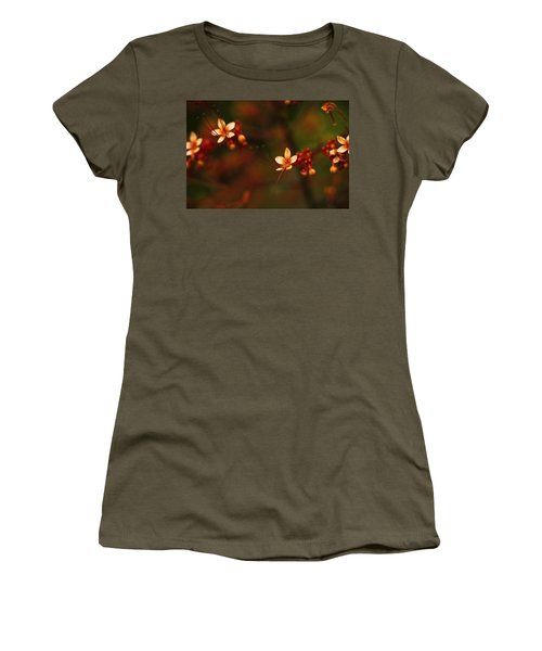 Little Red Flowers Women's T-Shirt (Athletic Fit)