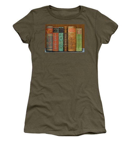 Live-laugh-love-books Women's T-Shirt