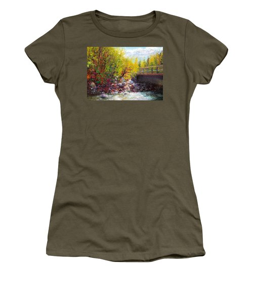 Living Water - Bridge Over Little Su River Women's T-Shirt (Athletic Fit)