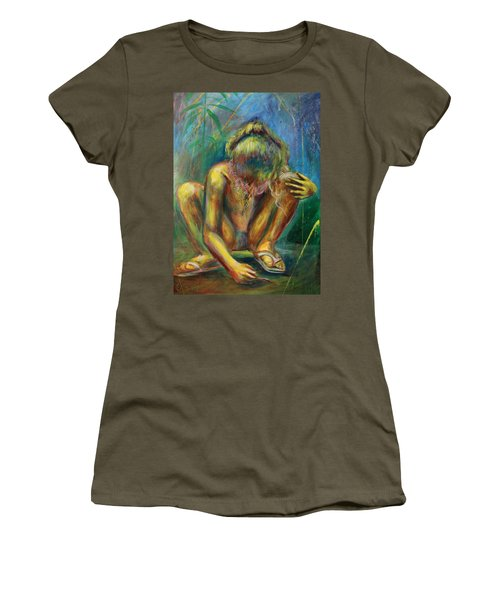Women's T-Shirt featuring the painting Lola by Blake Emory