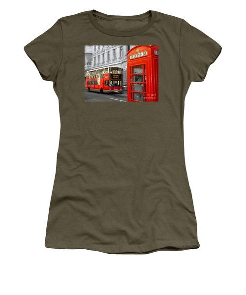 London With A Touch Of Colour Women's T-Shirt (Junior Cut) by Nina Ficur Feenan