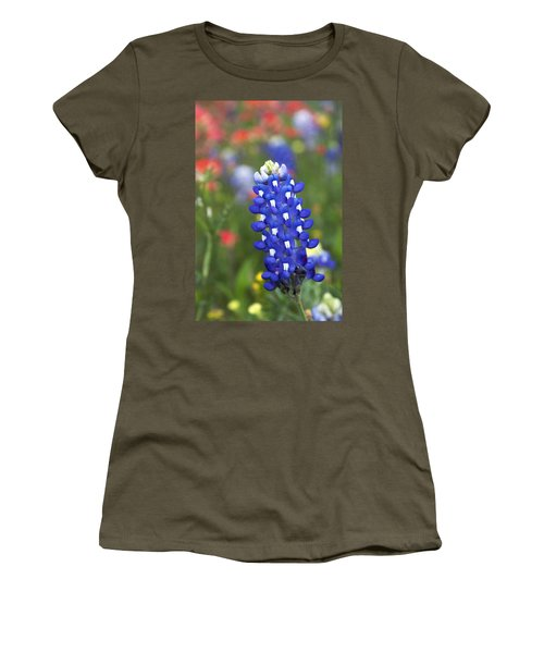 Lone Bluebonnet Women's T-Shirt (Athletic Fit)