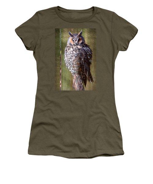 Women's T-Shirt (Junior Cut) featuring the photograph Long Eared Owl by Joseph Skompski