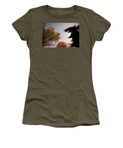 Women's T-Shirt (Junior Cut) featuring the photograph Looking Down On Us by Photographic Arts And Design Studio