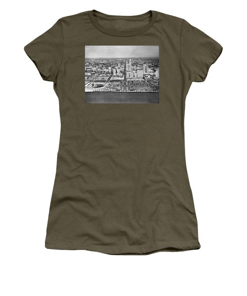 Looking Up Flagler Street At Downtown Miami Women's T-Shirt