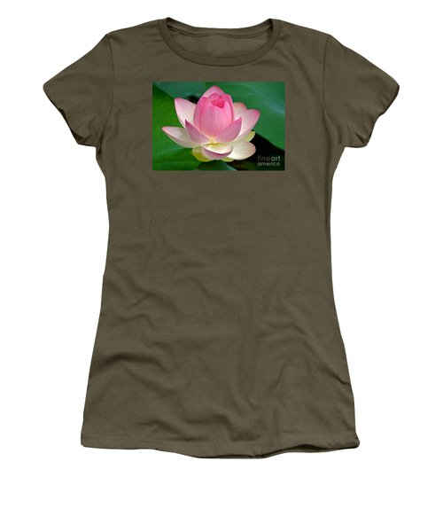 Women's T-Shirt (Junior Cut) featuring the photograph Lotus 7152010 by Byron Varvarigos