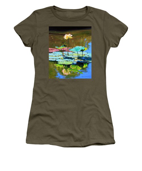 Lotus Above The Lily Pads Women's T-Shirt (Athletic Fit)
